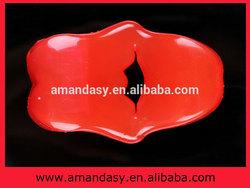 Powerful vibrating lips penis ring vibrator massager AMD014