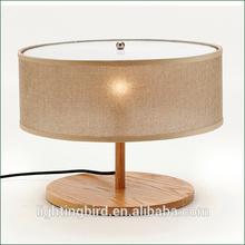 2012 New modern wood table lamp, handmade wood