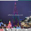 Gigante ao ar livre colorido frio- resistente led árvore de natal