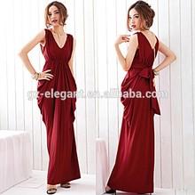 2015 V-Neck red cocktail evening dressesand Saudi Arabian Wedding dresses/Bridesmaid Dresses,lady's party dirndl