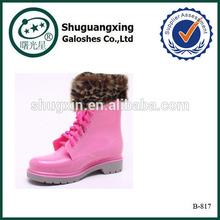 sex mature women rose pink folding fashion rain boots|B-817