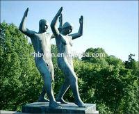 Life Size Bronze Nake Man And Nake Woman Sculpture