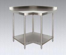 Comercial mesa de trabajo cocina, De acero inoxidable de la esquina mesa de la cocina 03-900L