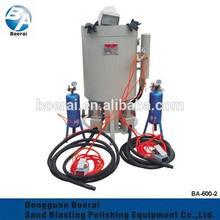 sandblasting machine with 2 sand blasting guns for stone sandblasting