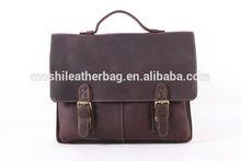 100% Genuine Leather Briefcase, Men's Handbag Laptop Messenger Bag 7090