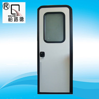 Durable and refined aluminium profile cargo trailers door