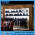 Made in china de montagem na parede da loja de roupa showcase, loja de roupas display showcase