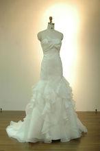 Mermaid Ruffled Organza Wedding Dress and Gowns 2014