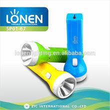 LONEN 1W high power bright star high lumen LED rechargeable watt flashlight