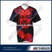 Custom design baseball tops,low price baseball shirts