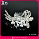Princess Crown Tiara Comb Hair Clip Bridal Hair Jewelry wedding decorative hair combs