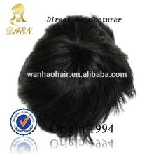 Fashion Asian Wigs Mens Old Fashion Wig Brazilian Hair Machine Made Wigs Customized For You