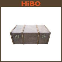 Storage vintage PU leather trunk box