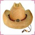 Nuevos productos 2014 venta al por mayor de paja cowboy sombreros de sol, playa de sombrero de paja, sombrero de panamá genuina las superficies de calidad