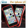 mobile phone accessory Love Mei brand double color bumper case AL metal case for iphone 5C case, for iphone 5C case 8 colors