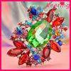 Luxury colorful charming crystal rhinestone pins brooch WBR-1457