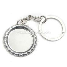 Fashion Silver Bottle Cap Key Chain Ring Keychain Key Fit 25mm Photo Glass Cabochons