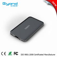 2015 new ultra slim polymer external battery charger 5000mah portable power bank