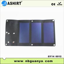 2014 New 3W Fashion Portable Black Phone Flexible Solar Panel