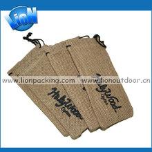 high quality drawstring gunny cloth bag for sunglasses