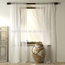 elegant solid linen-look sheer window curtain