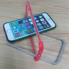 [IN STOCK] New platic Clear PC color TPU bumper case for iPhone6, cover for iPhone 6