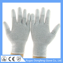 High Quality Seamless Liner PU Finger Coated ESD Glove Hand Protection