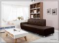 Sofá barato reposapiés, sofá de cuero con reposapiés para la venta