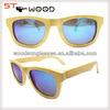 2015 Eco-friendly with polarized bamboo wayfarer sunglasses