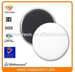 advertising gift simple white blank round fridge magnet
