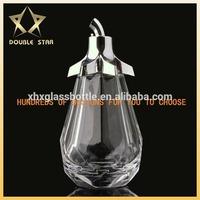 2014 wholesale 85ml best quality diamond shaped glass perfume bottle