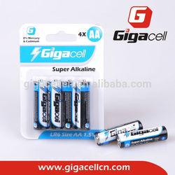 super alkaline AM3 battery LR6 battery Size AA battery
