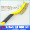 Manufacturer Supply TPR And PP Soft Grip Pure Brass Cooper Seel Wire Brush, Scratch Brush With Strong Scraper