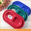 pet food storage double dog bowl feeder pet dog bowl