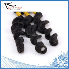 No chemical processed natural color cheap unprocessed malaysian curly hair weave uk
