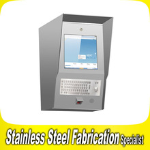 OEM LCD Multi Touch Screen Self Service Wall-Mount Kiosk Enclosure Fabrication for Payment and Deposit