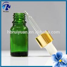 10ml small green glass bottle with dropper cap euro dropper bottle