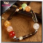 2014 design freshwater pearl bracelet natural rubber band bracelet maker