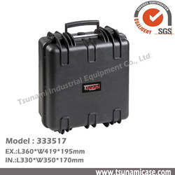 Commercial electrical hard plastic case with foam
