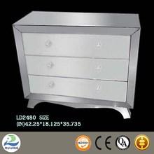 mirror venetian nightstand with three drawer