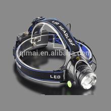 High Power Headlamp Rechargeable Led Head Flashlight / Led Headlamp