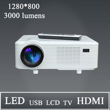 1280*800 Led Projecteur Multimedia With hdmi usb vga tv Media Tuner For Entertainment