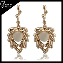 classic heart rose gold angel caller cage bell earrings wholesale