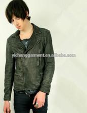 ผลิตภัณฑ์ใหม่สไตล์แฟชั่นหนังแท้สำหรับผู้ชายเสื้อykkซิป