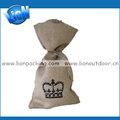 para el embalaje de arroz con cierre de cuerda de yute bolsa