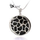 Beautiful Crystal Jewelry Black Jewelry Pendant Necklace, Hot Sell Fashion Jewelry