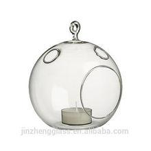 Orb ball hanging glass tea light holder