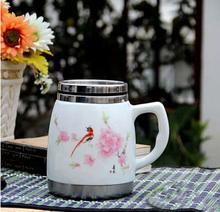 2014 new arrival stainless porcelain mug ,porcelain coffee mug