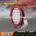 China fabricación 9'' 111w led de luz de trabajo, offroad luz de trabajo led para suv atv utv 4wd