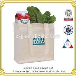 New design promotional custom canvas shopping bag